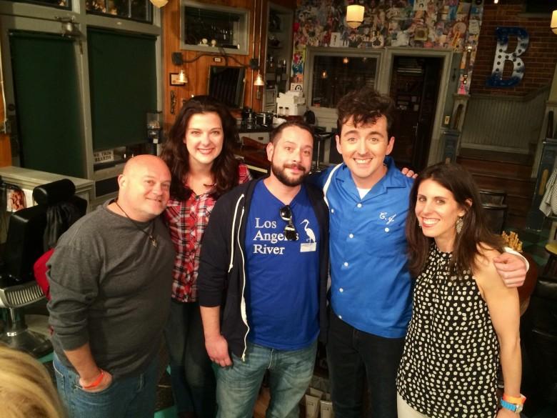 Wayne Frazier Natalie Lipka, Patrick Roderiques, ,Matt Cook, and Sallyann Bergh.  Photo by Katierose Donohue