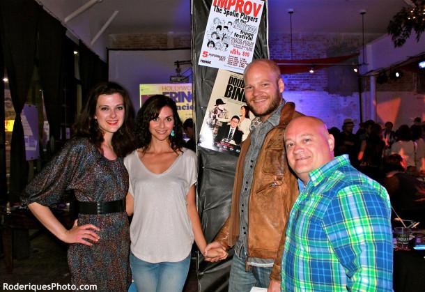 Natalie Lipka, Ceri Bethan (Laura), Blake Shields Abramovitz (Writer & Frank) & Wayne Frazier